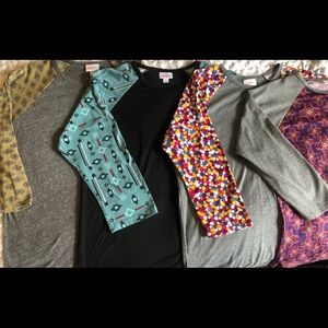 ++ LOT OF 4 LLR LuLaRoe RANDY Shirts All Size Med
